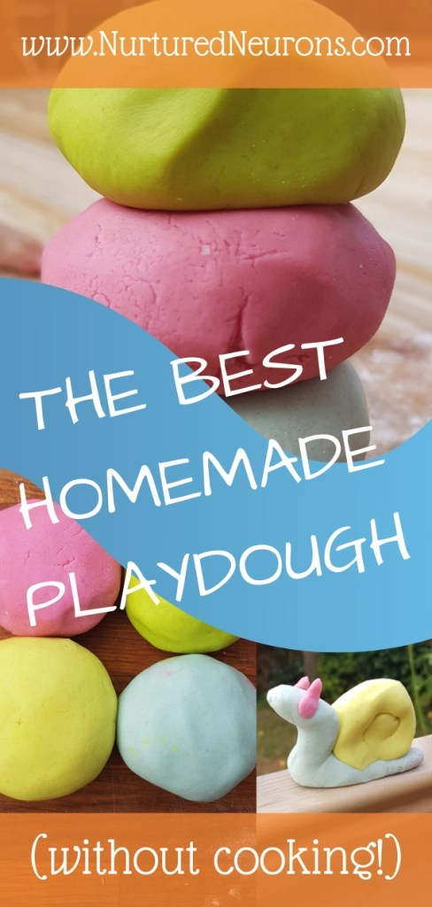 THE BEST HOMEMADE PLAYDOUGH WITHOUT COOKING