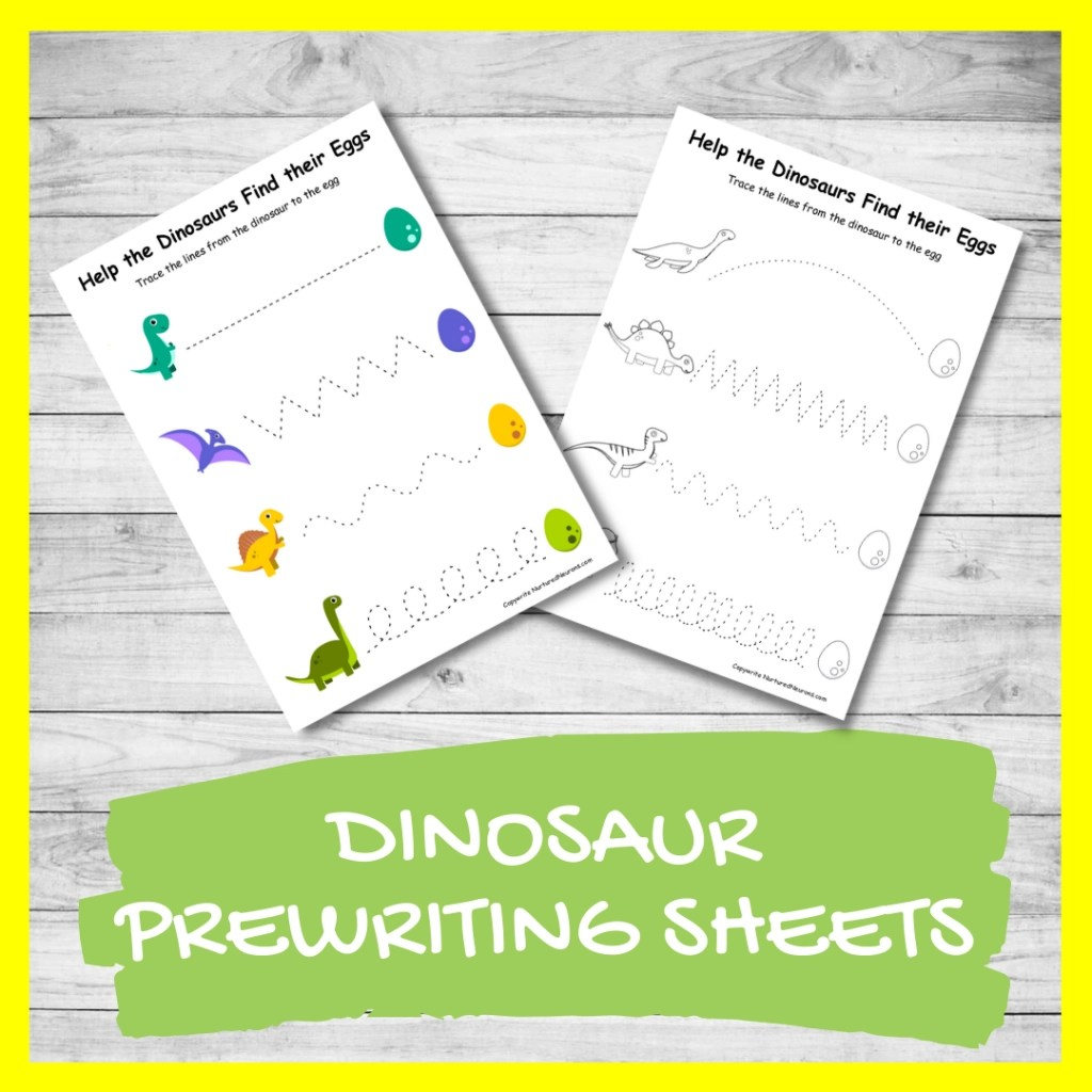 Dinosaur Trace The Line Printables Free Worksheets