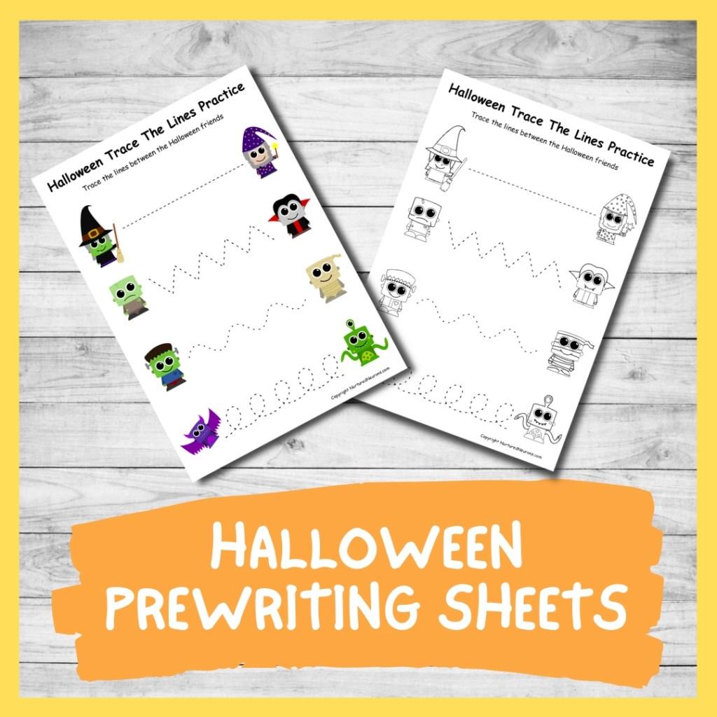 Fantastic Halloween Tracing Sheets Printable