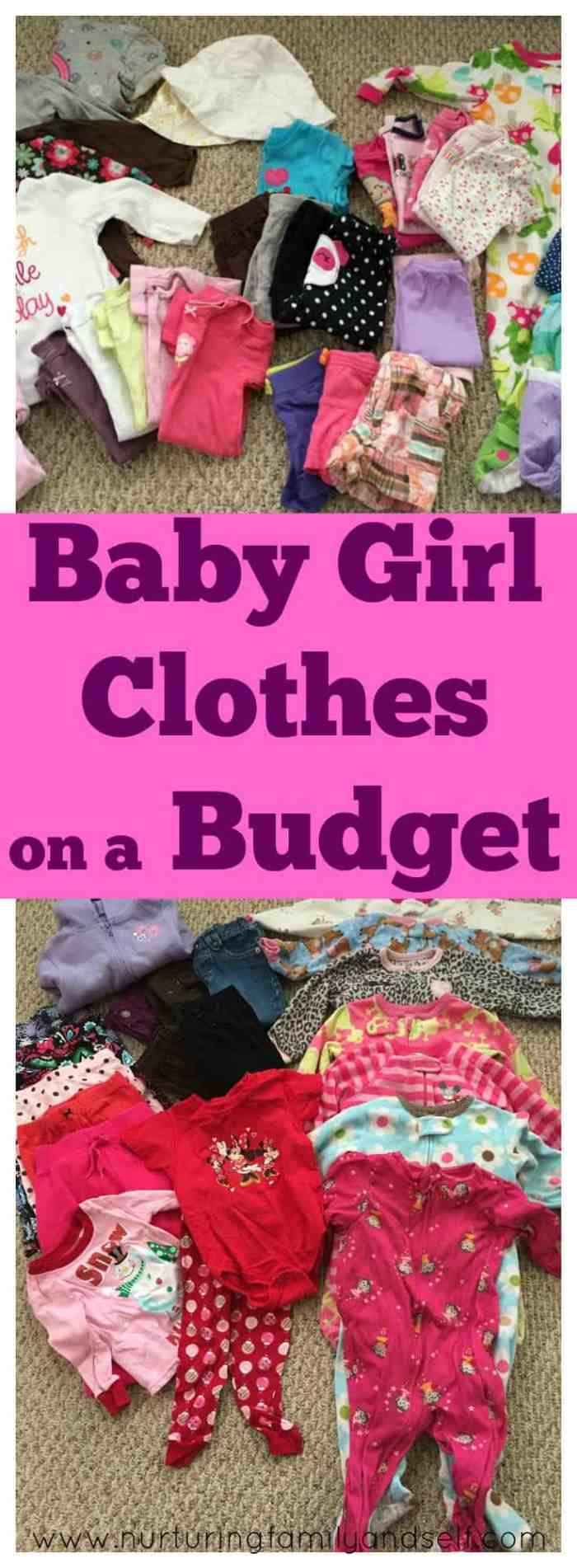 Baby Girl Clothes on a Budget Pinnable Image