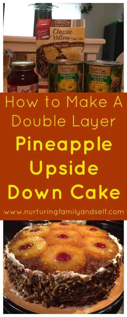 How to Make A Double Layer Pineapple Upside Down Cake Pinterest Image