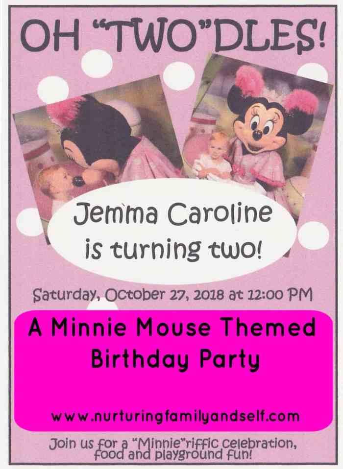 Jemma 2nd Birthday Invitation