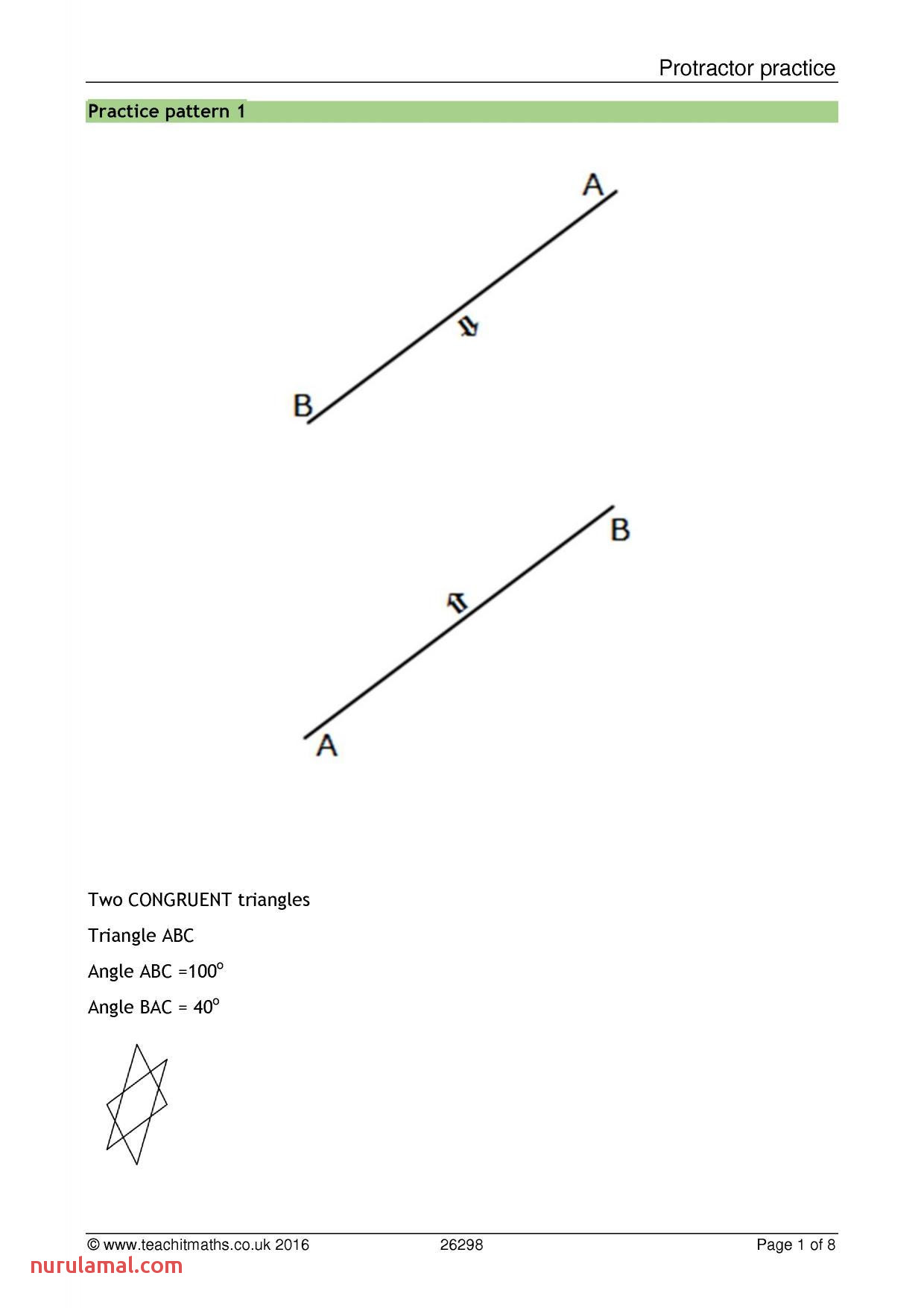 Math Worksheets Angles