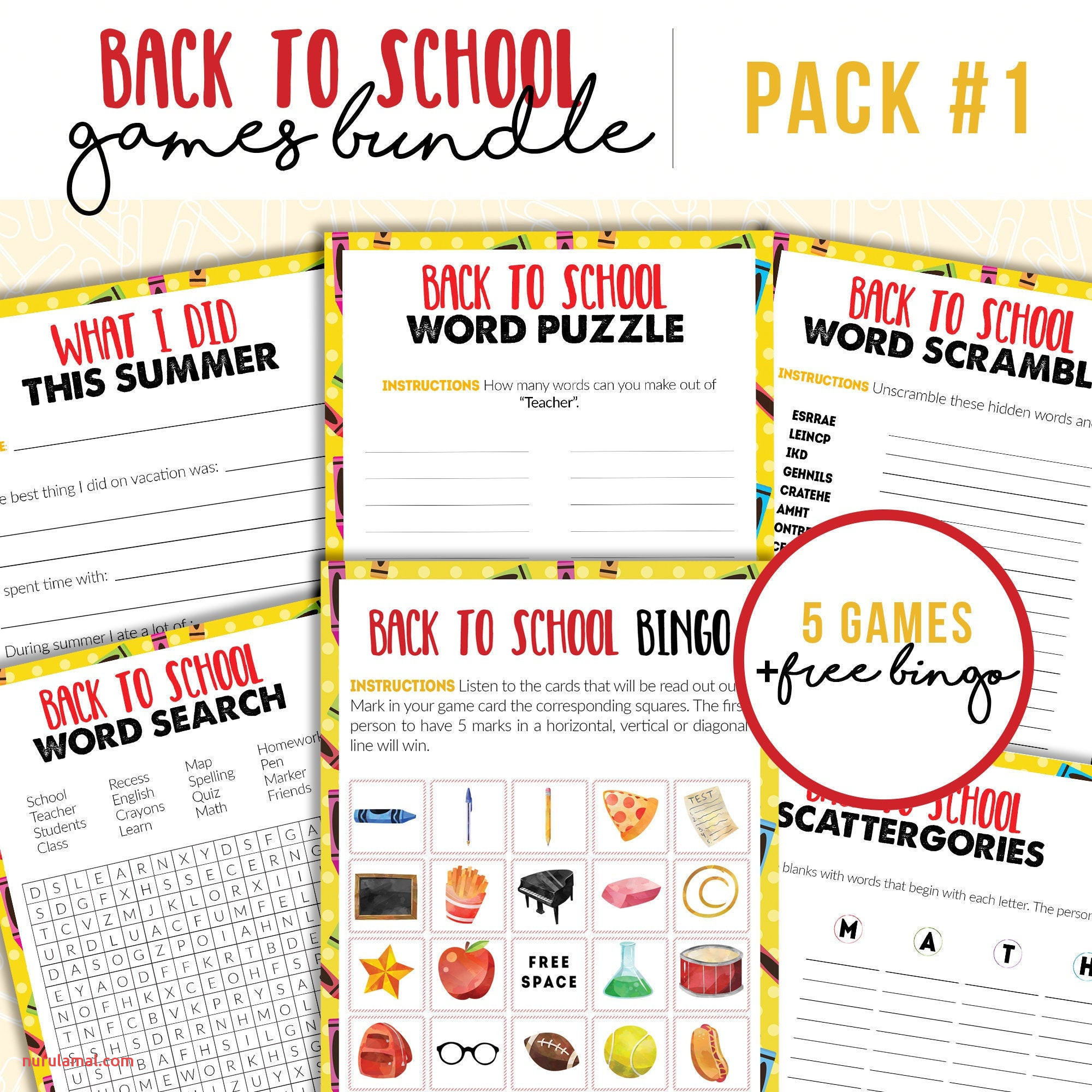 5th Grade Worksheets Printable Word Search
