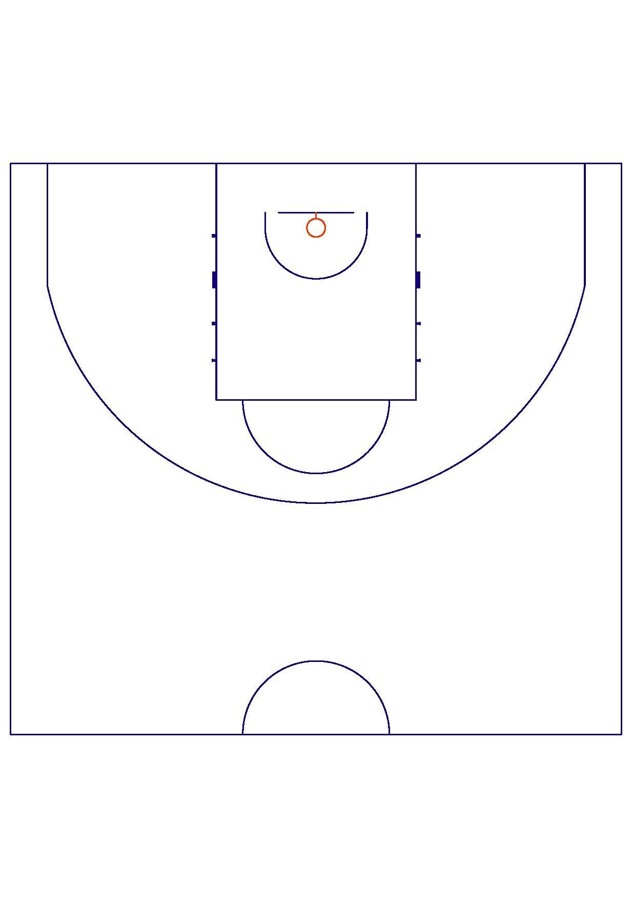 Basketball Half Court Diagram Bing Images Nurul Amal