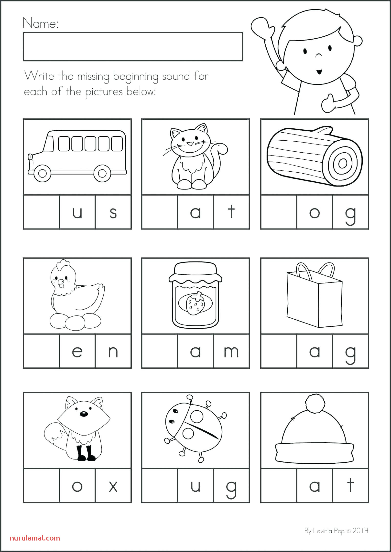 Beginning Vowel Sounds Worksheets Printable