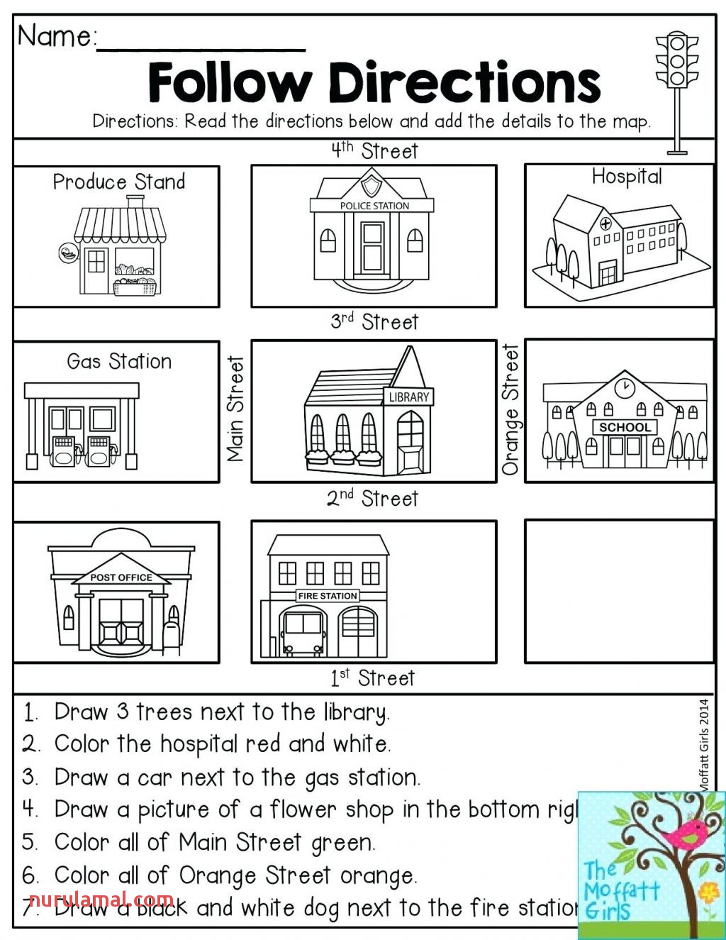 Christmas Preschool Worksheets Follow The Direction