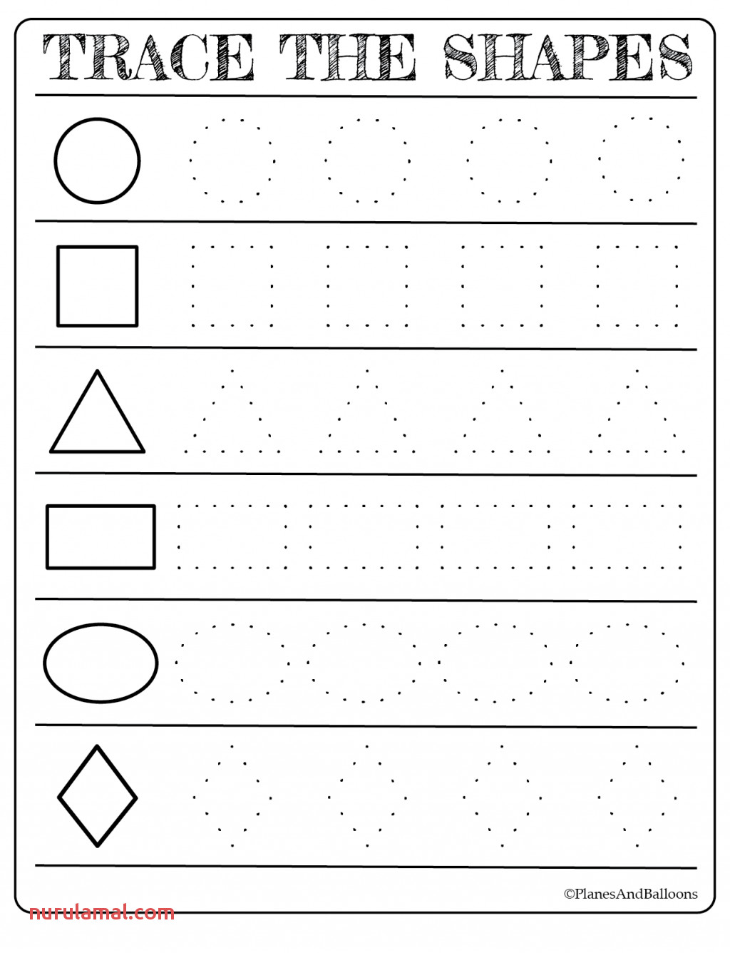 Rectangle Worksheet For Kids Nurul Amal