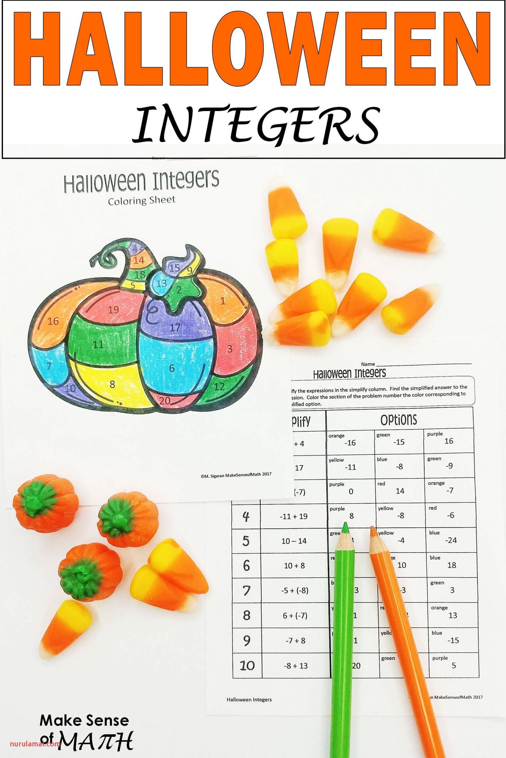 Halloween Math Worksheets Grade 1