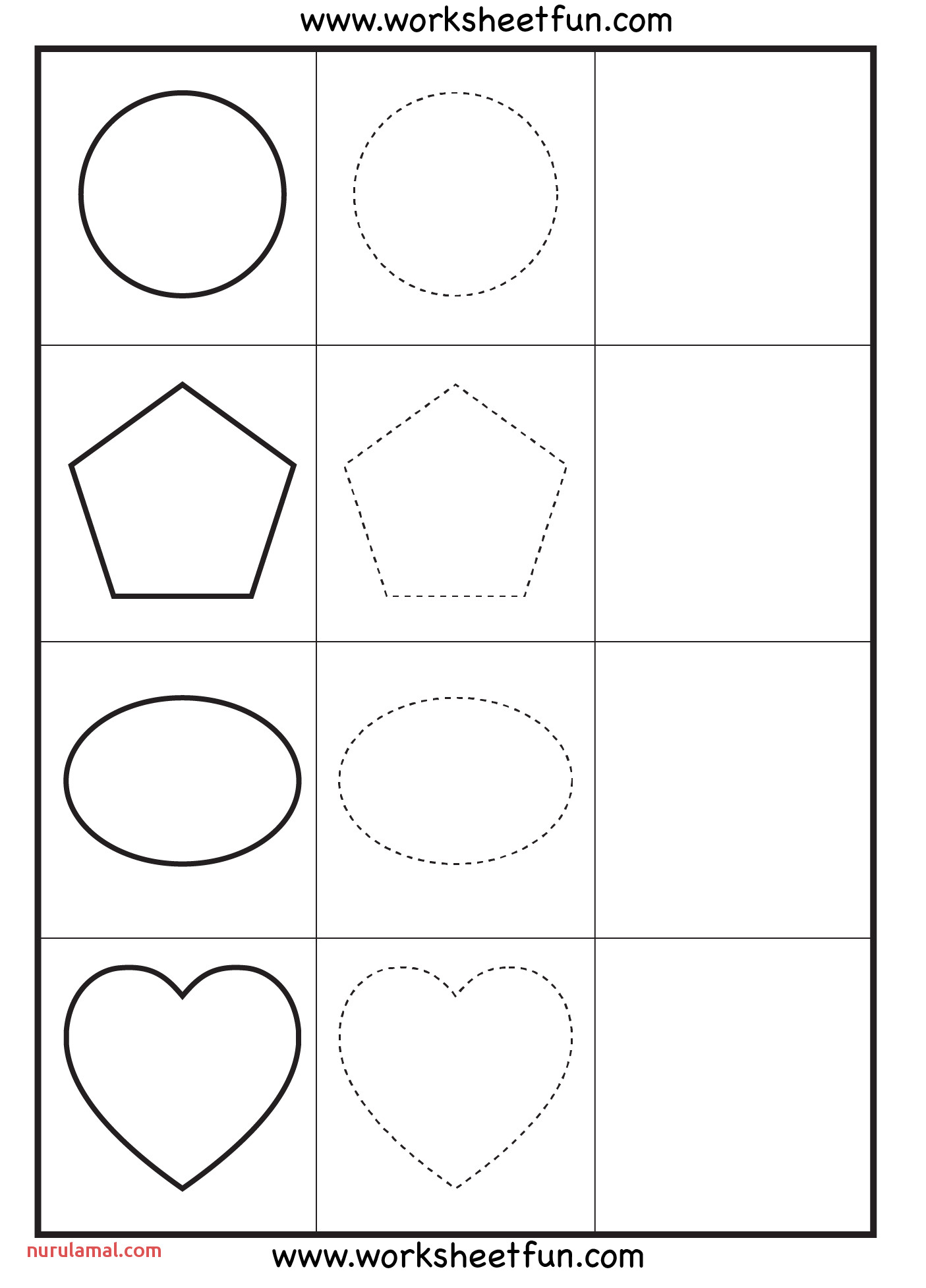 Preschool Tracing Practice Worksheets Nurul Amal