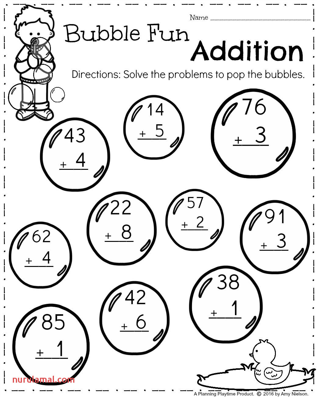 Math Sheets For 1st Grade