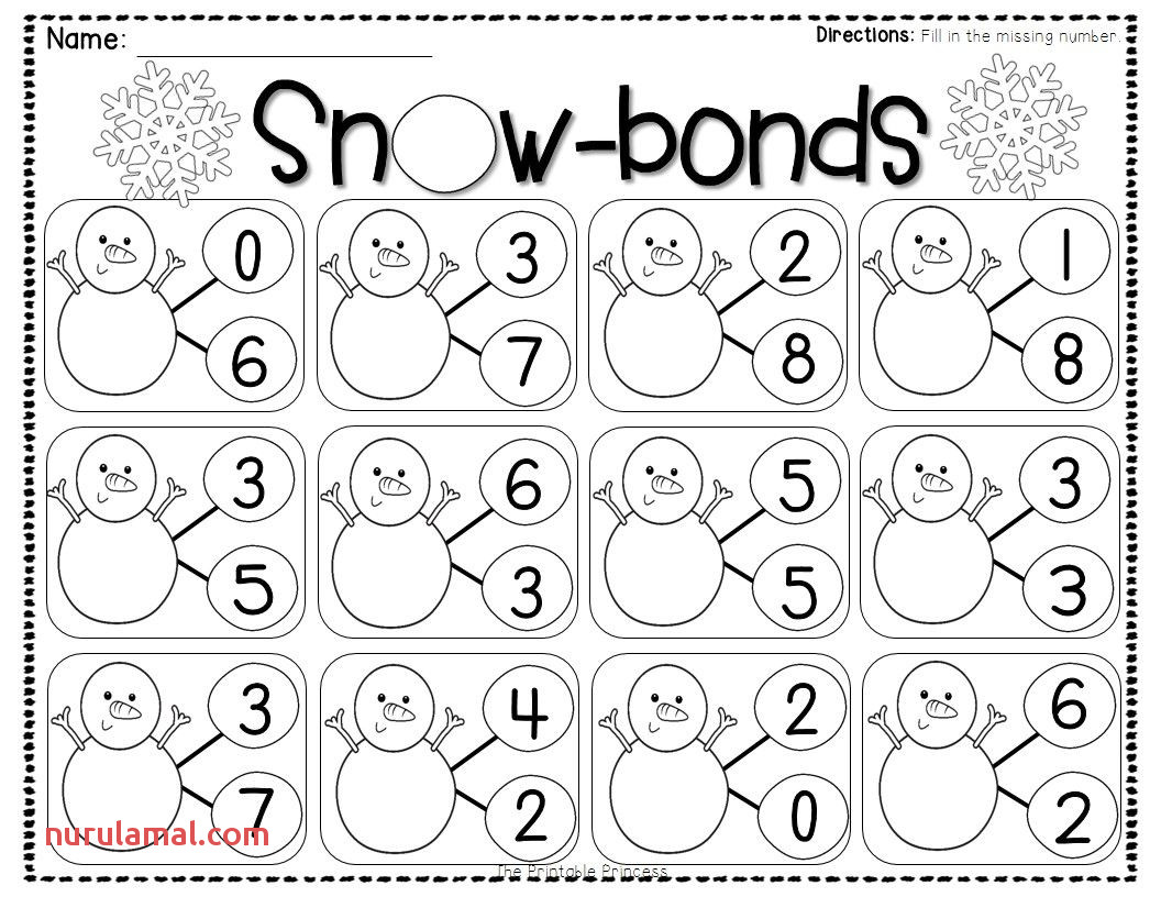 Christmas Addition Worksheets For Kindergarten