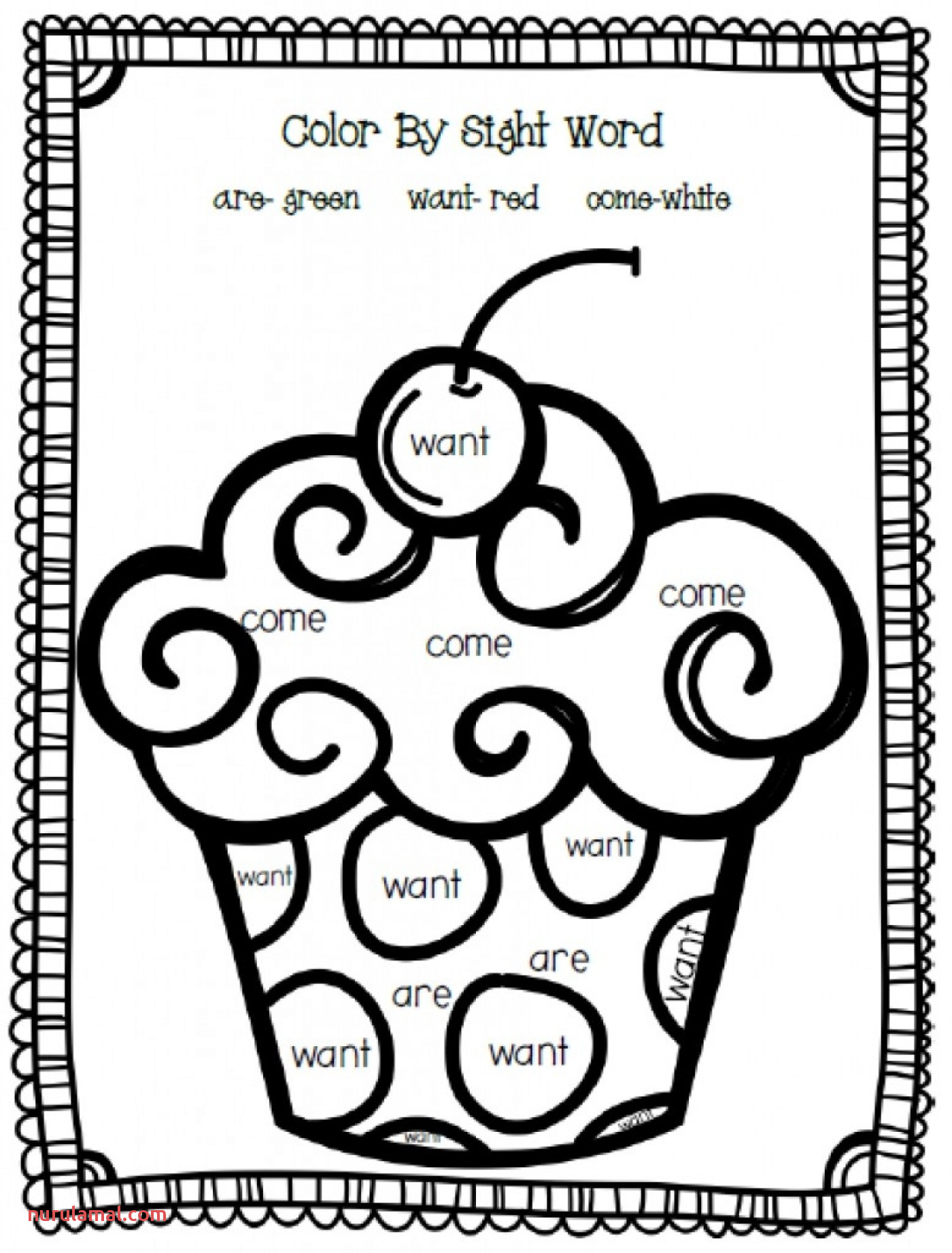 Kindergarten Tracing Words Worksheets