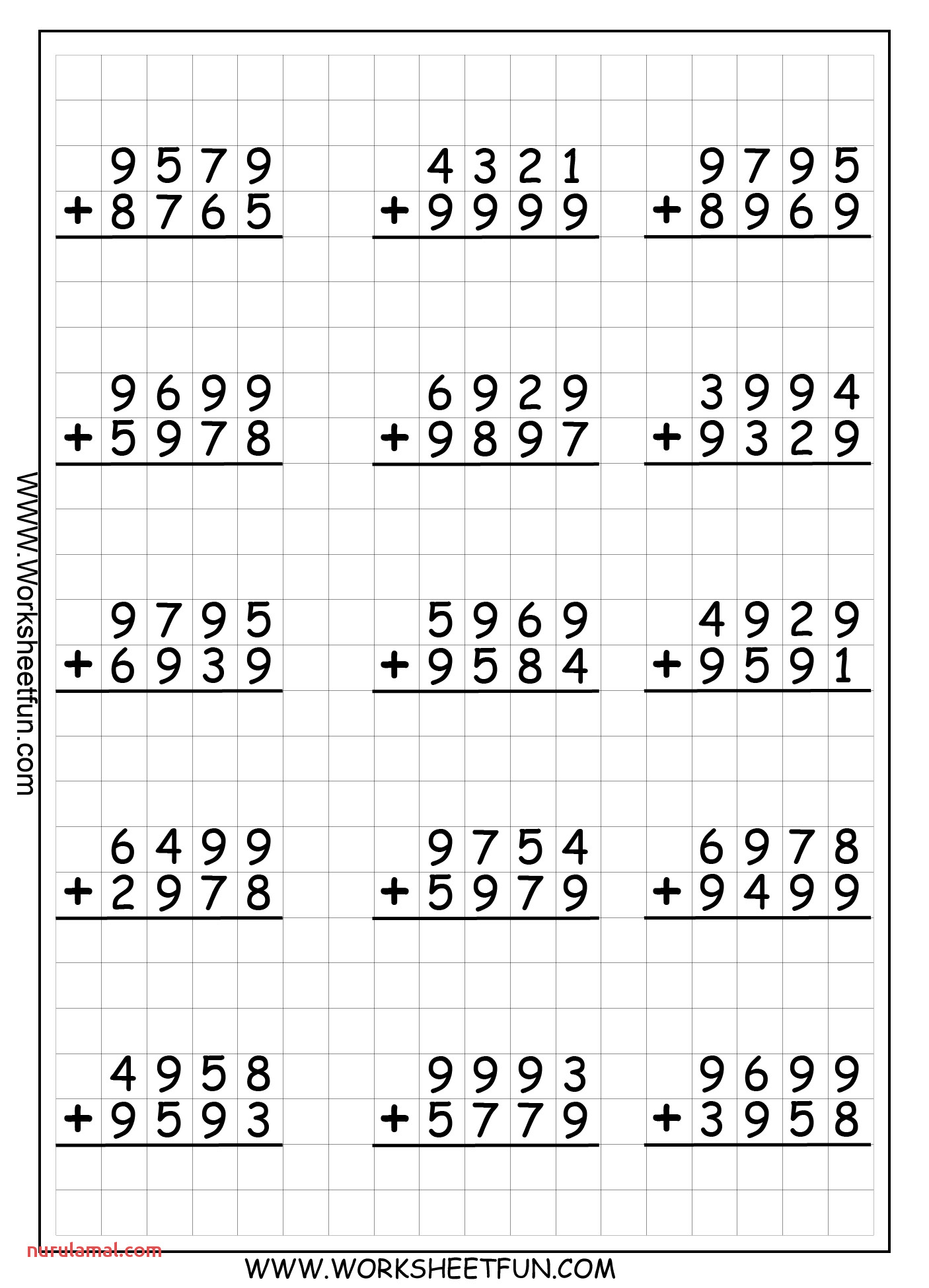 Printable Multiplication Worksheets Fact Family Nurul Amal