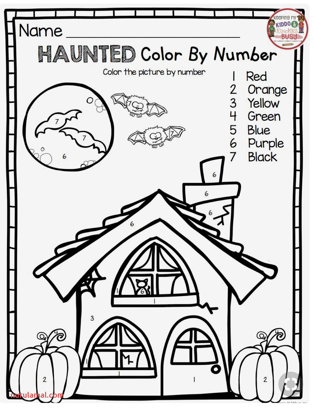 Halloween Math Worksheets 2