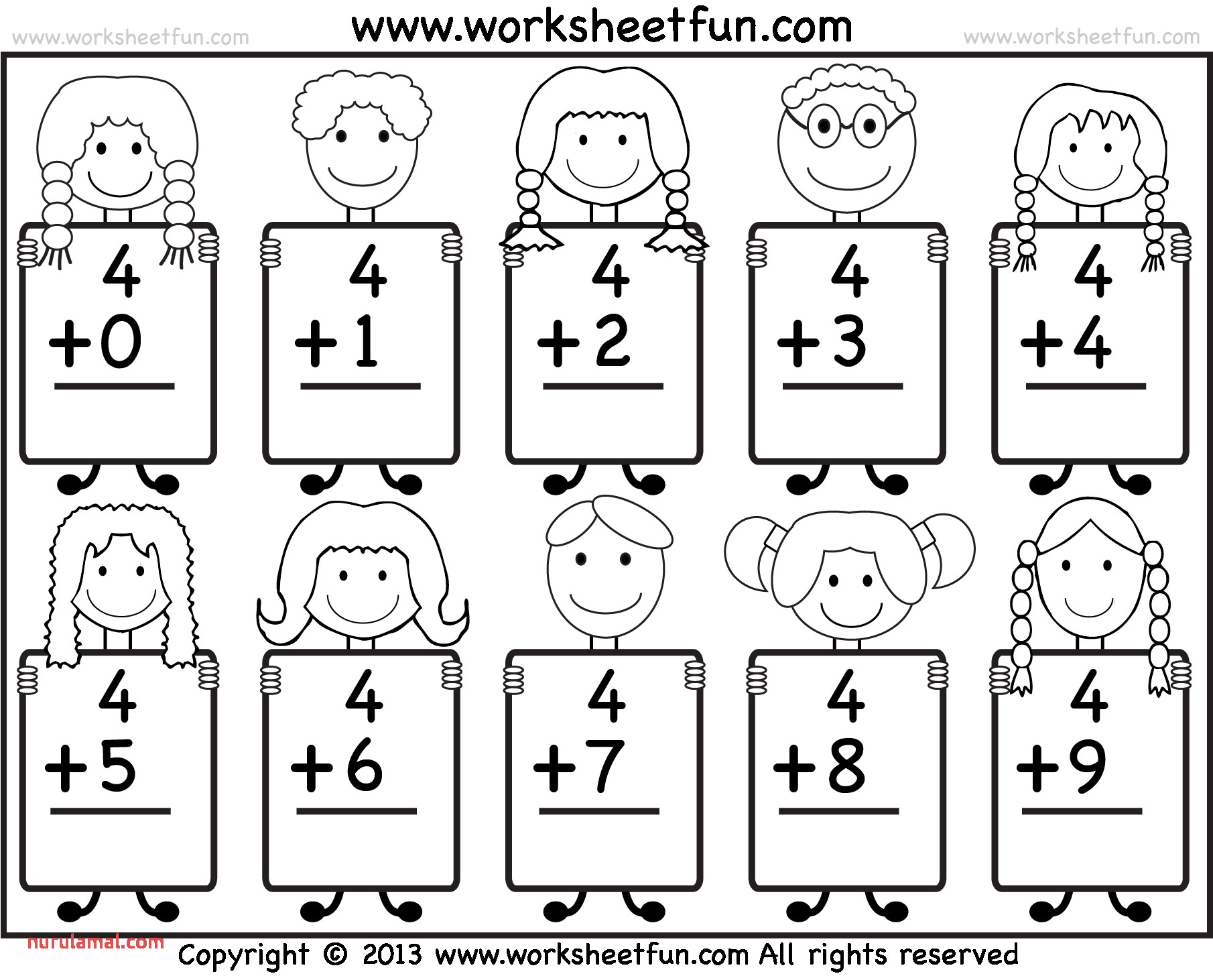 Coloring Pages Numbers Worksheet Free Kindergarten Math