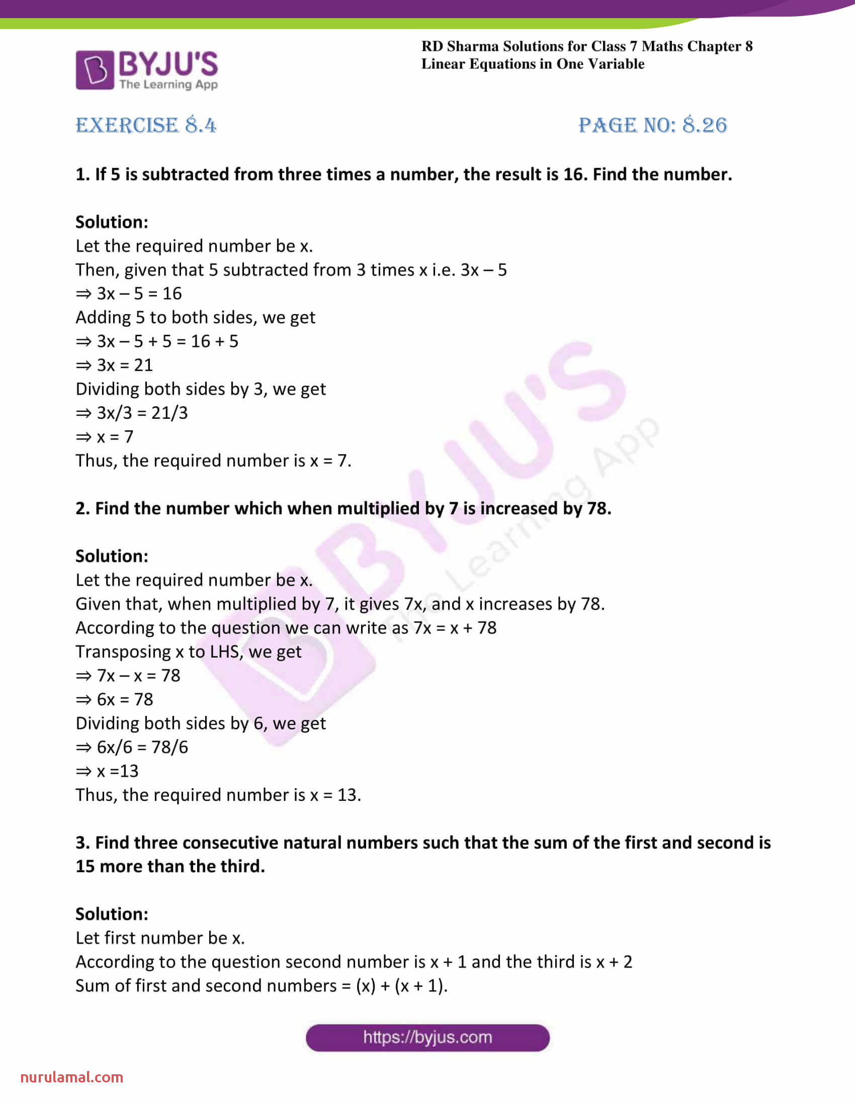 12 Grade Math Worksheet Word