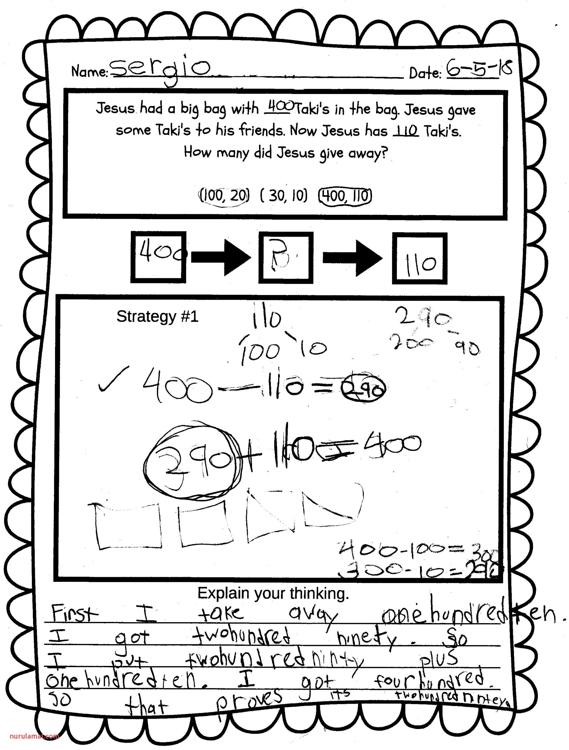 Mental Math Worksheets Grade 6