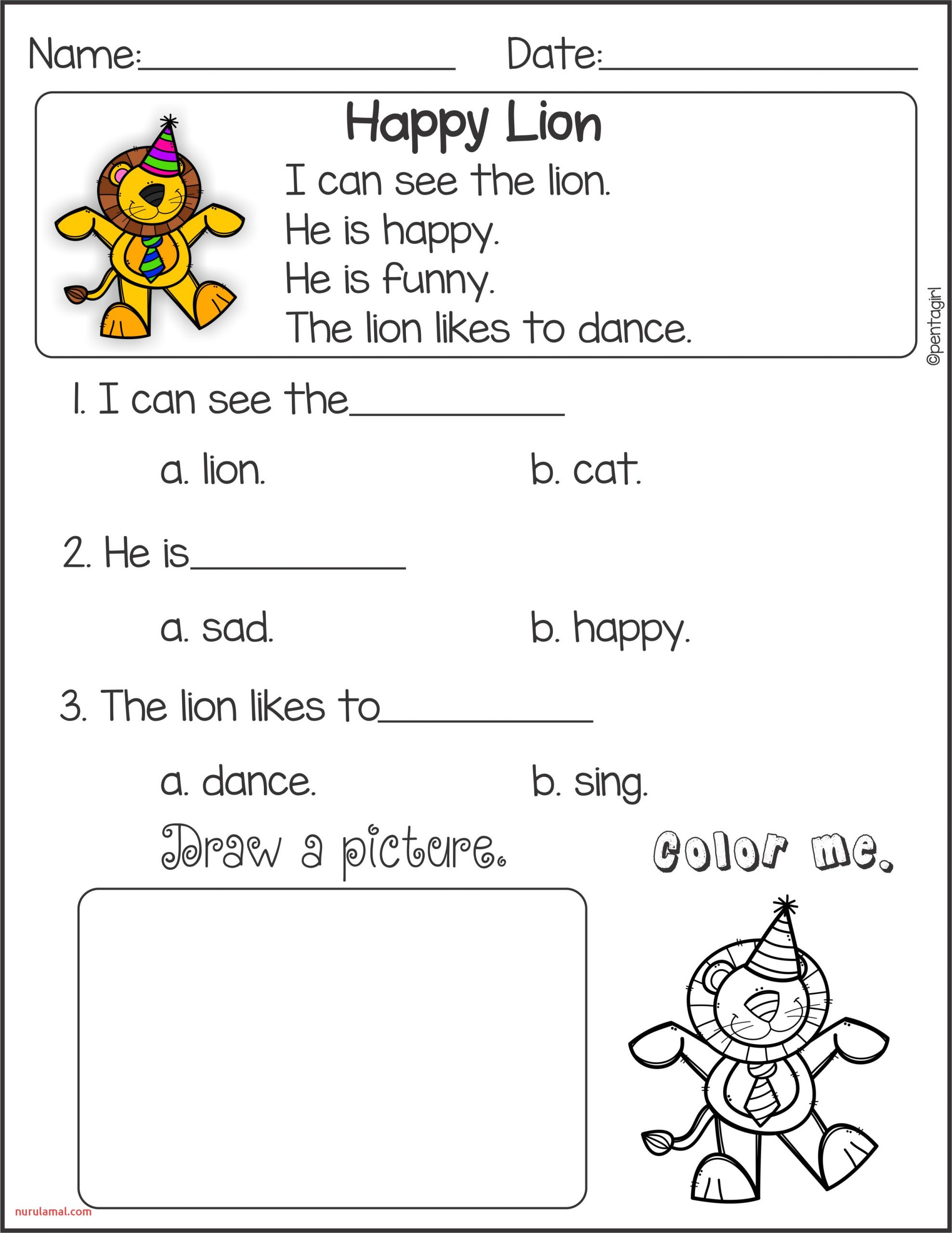 Printable Reading Comprehension Worksheets Grade 1