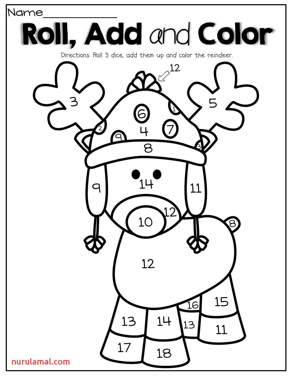 Preschool Color Worksheets For Xmas
