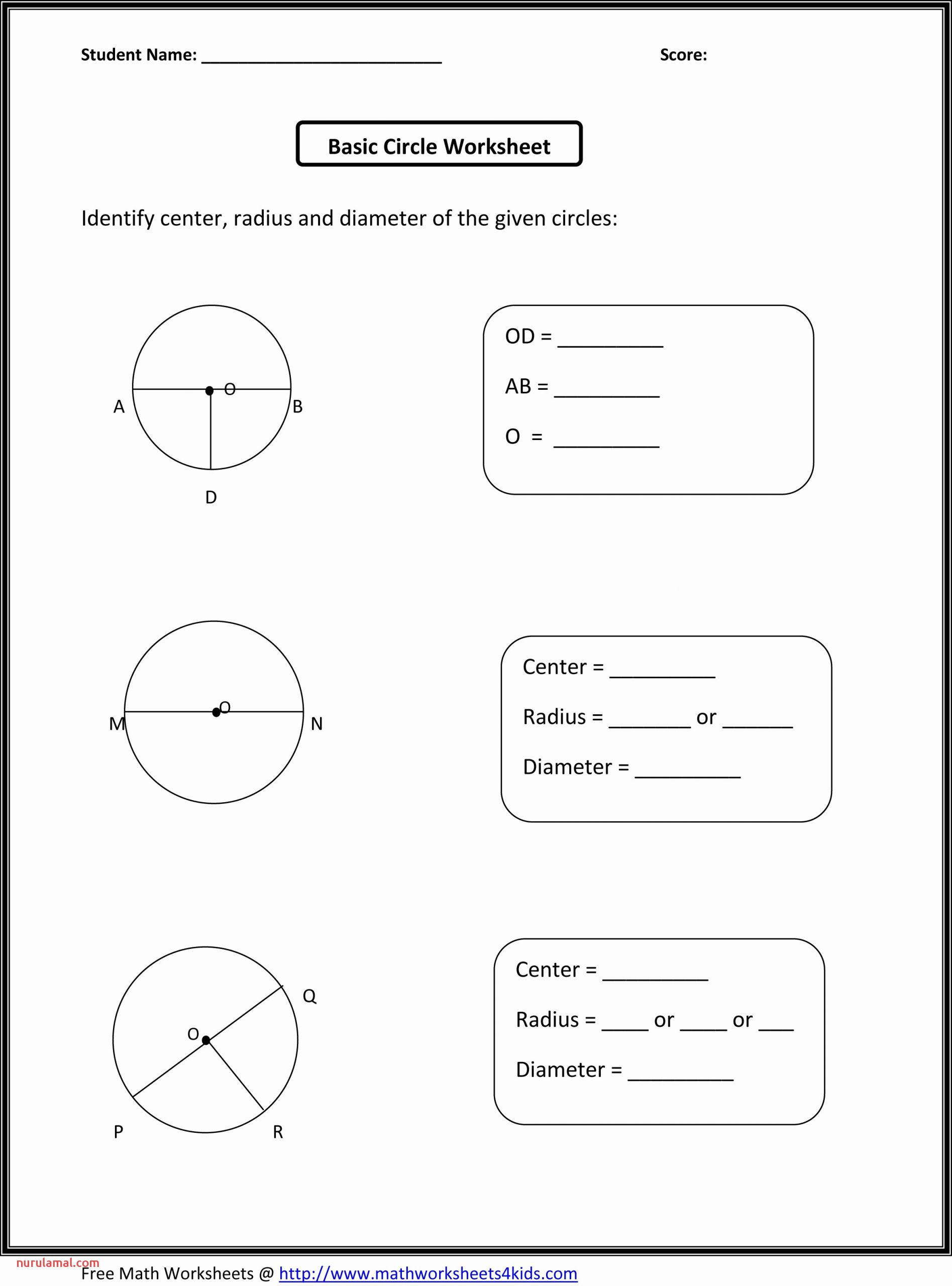 Grade 7 Math Worksheets