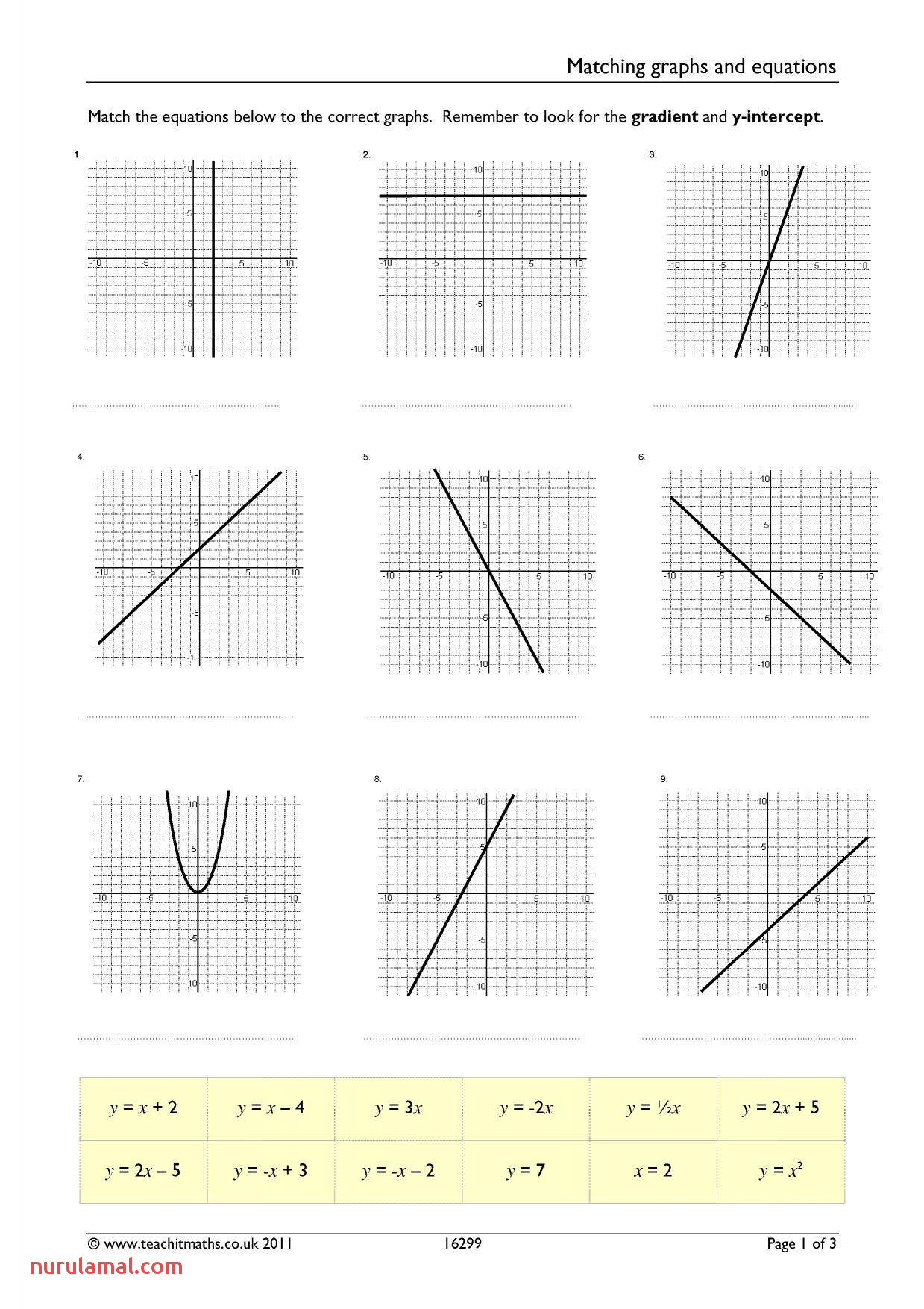 Printable Mystery Graph Worksheets