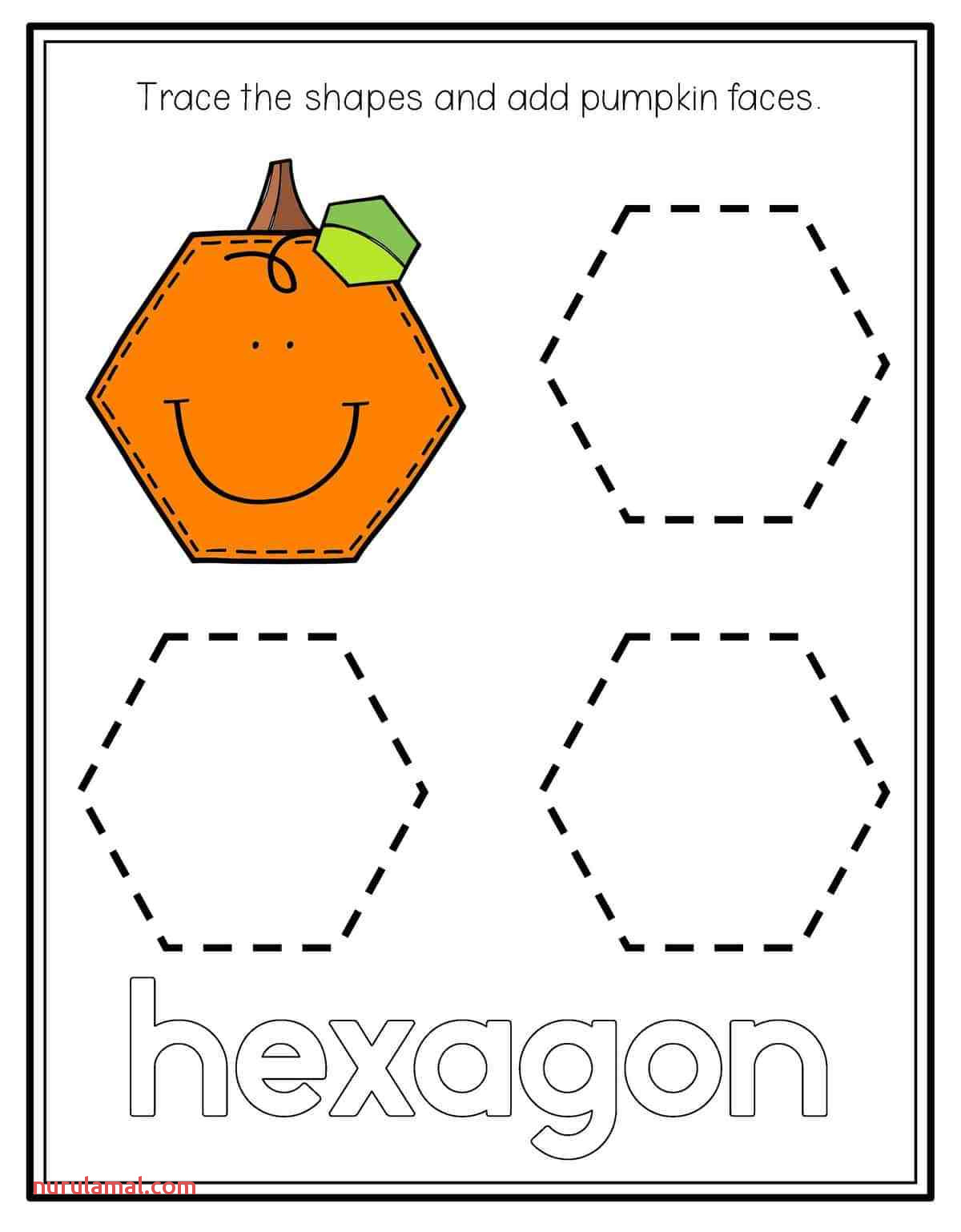 Shapes Trace Worksheet For Kids Nurul Amal