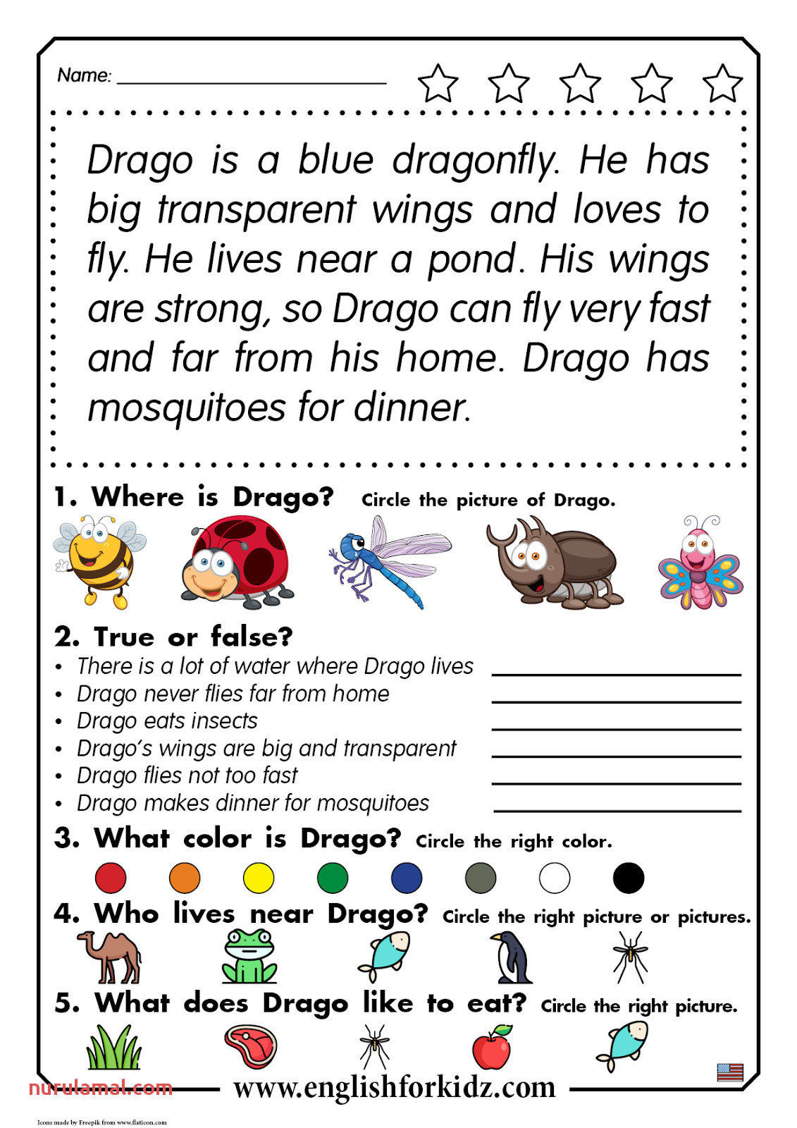 Color By Number Ladybug Worksheet For Kids