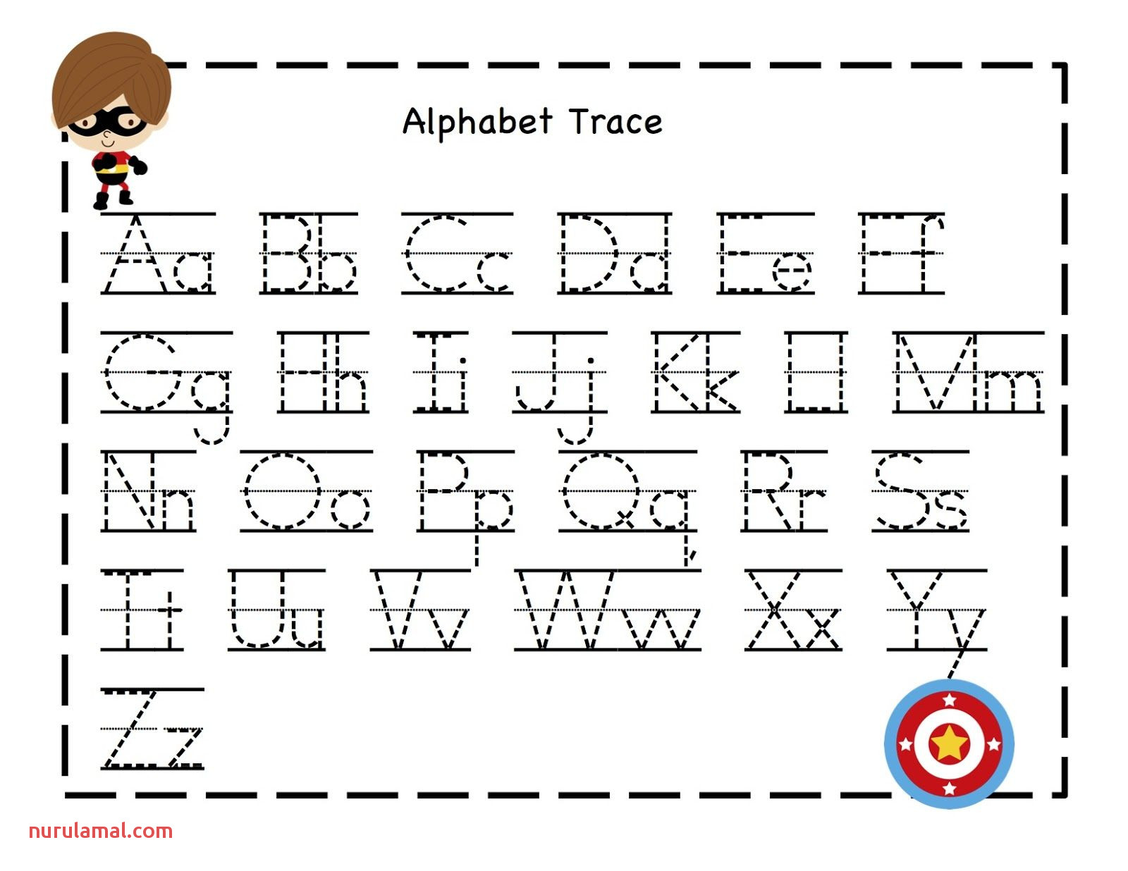 Train Abc Preschool Tracing Worksheets