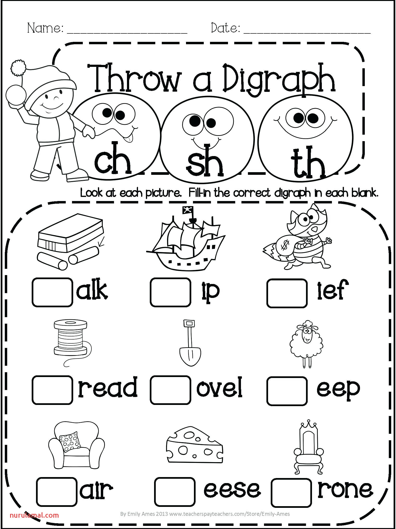 Noun Adjective Worksheets And Preschool