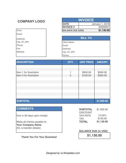 invoice template word img