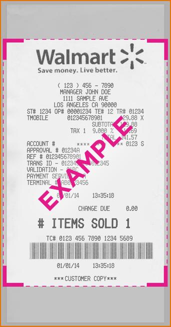 Walmart Receipt Template Elisdlugopisyreklamowe