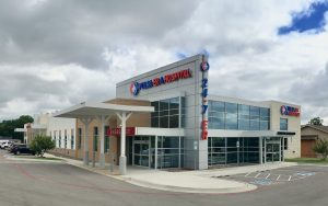 Photo of the outside of the newly-opened Tulsa ER & Hospital