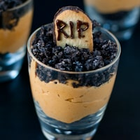 Pumpkin Dirt Pudding Graveyard Parfaits