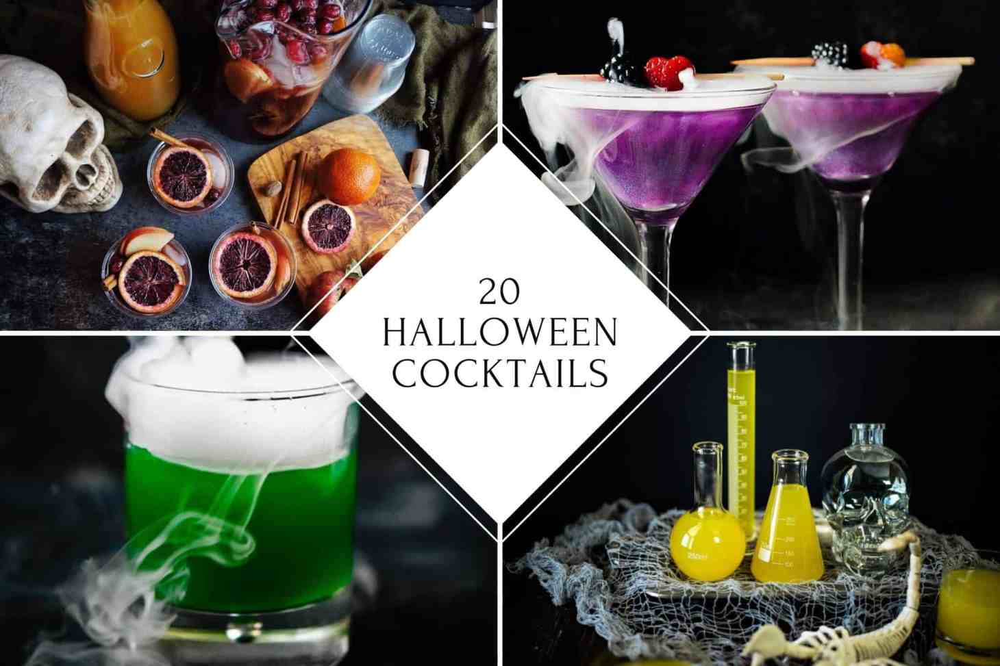 Roundup post of 20 Halloween cocktails