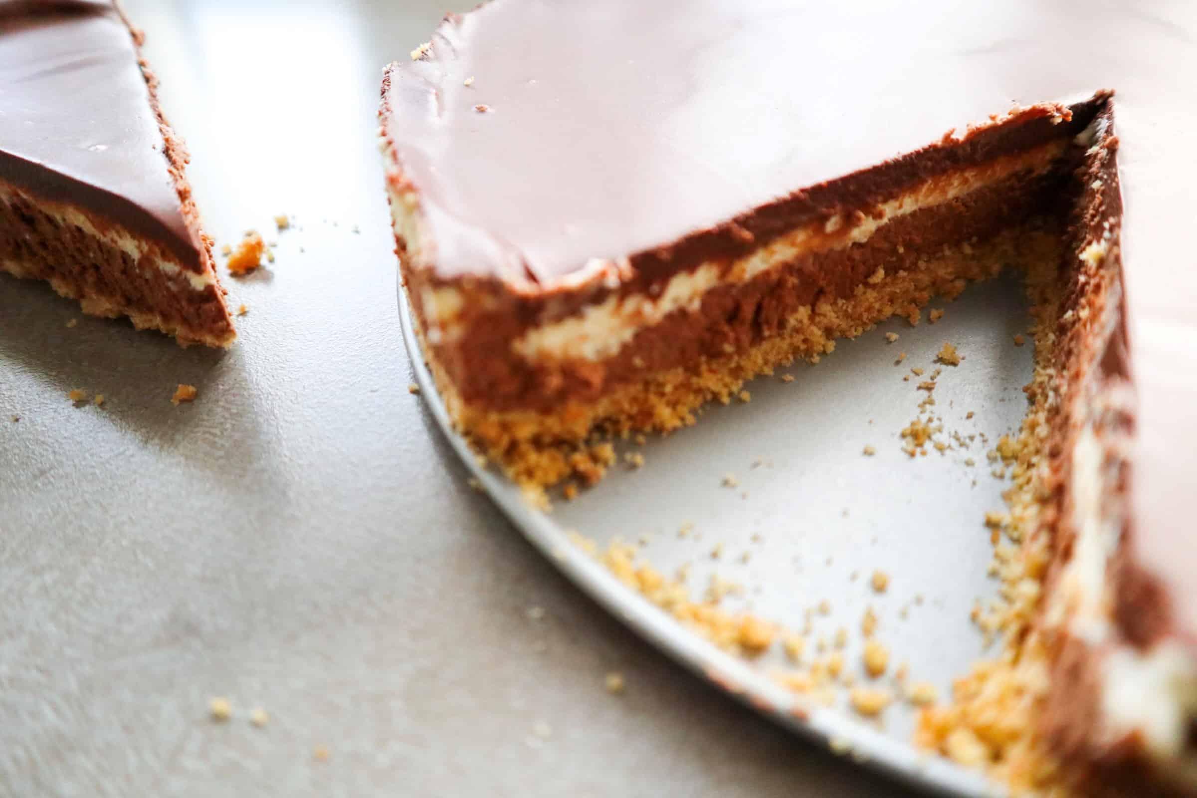 no-bake chocolade cheesecake
