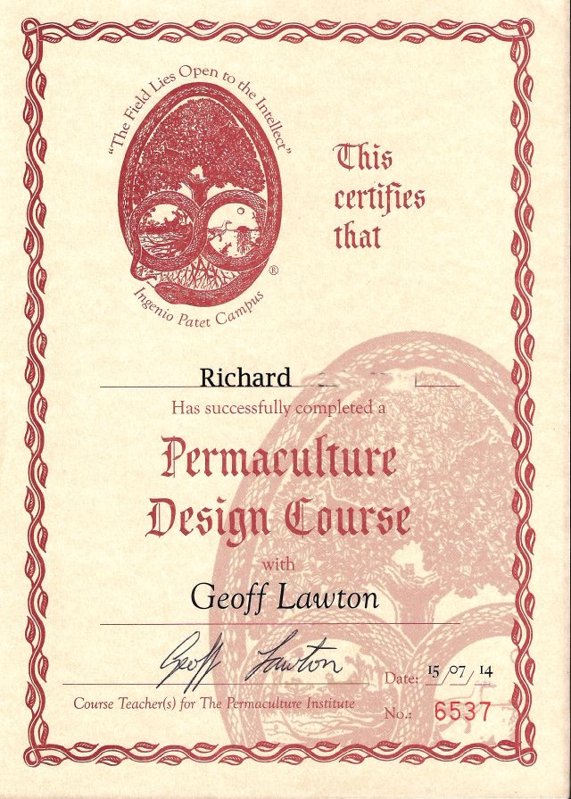 my pdc certificate (last name omitted)