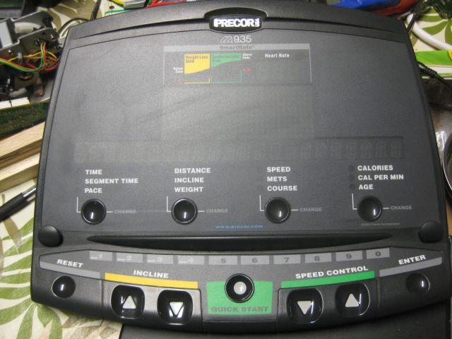 the control panel of the Precor 5.35i