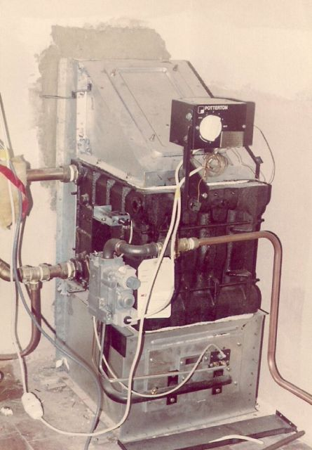 the furnace with horizontal flue powered by piped gas