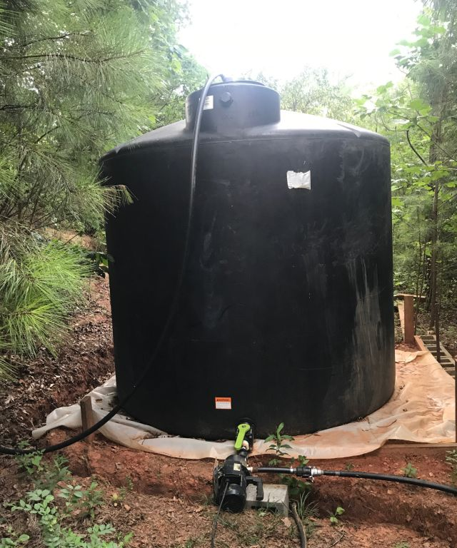 rainwater harvesting – connecting new storage tank