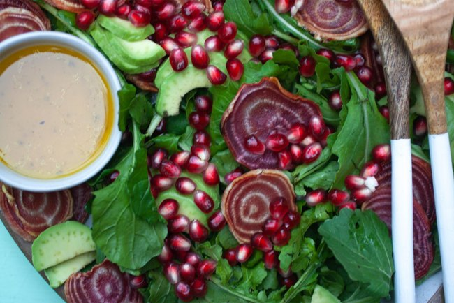 Candy Striped Beet and Pomegranate Salad 02