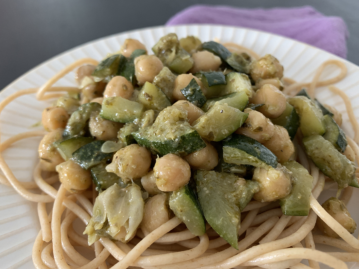 Garbanzos al pesto