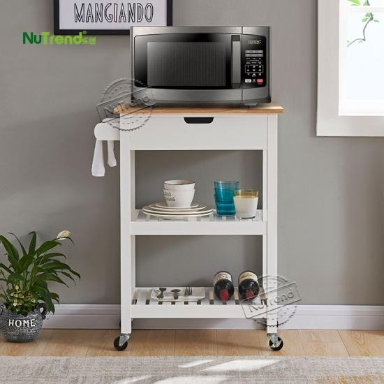 modern small wood kitchen cart with