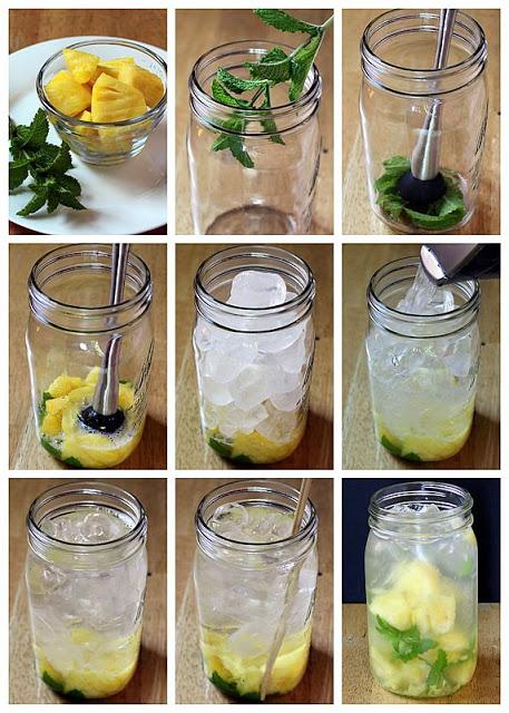 água com hortelã