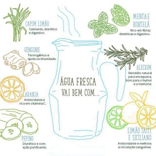 água sabores