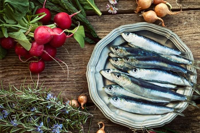 peixe e vegetais