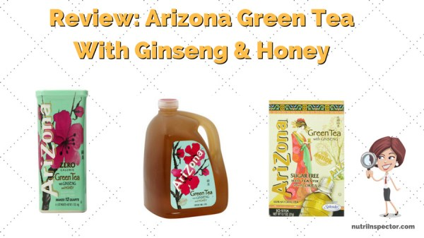 Review Arizona Green Tea with Ginseng and Honey Nutri