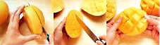mango fruit peeling