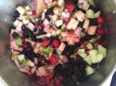 All ingredients starting to simmer