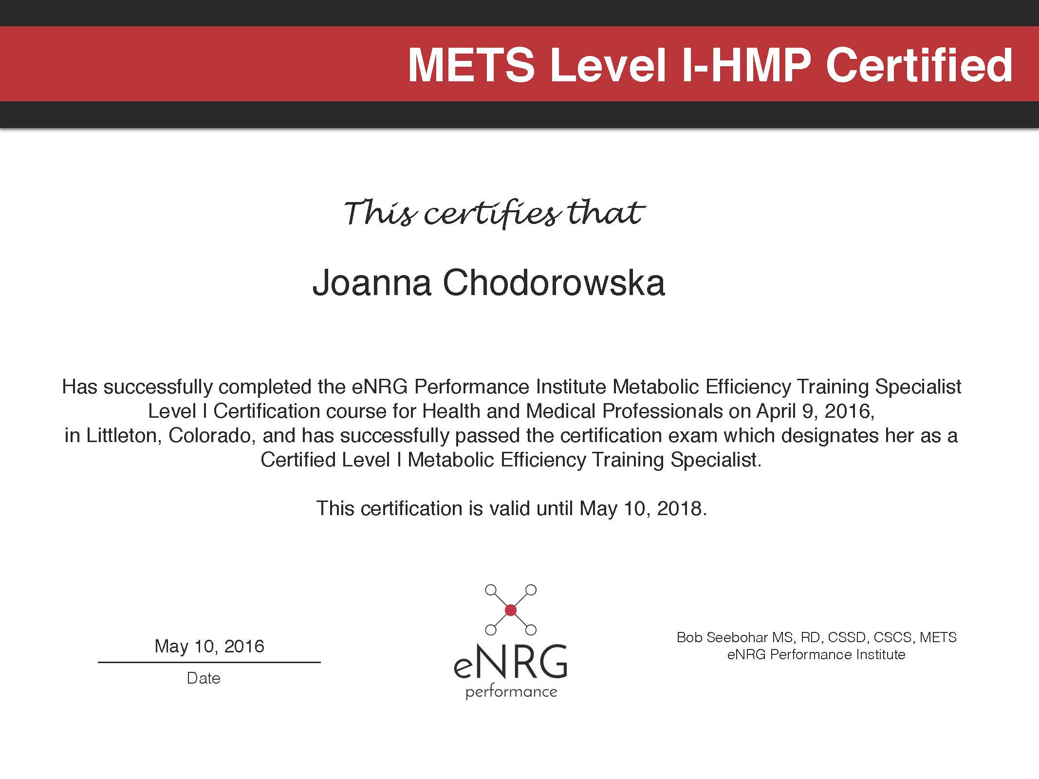 I Am Mets 1 Hmp Certified Nutrition In Motion Pa Holistic
